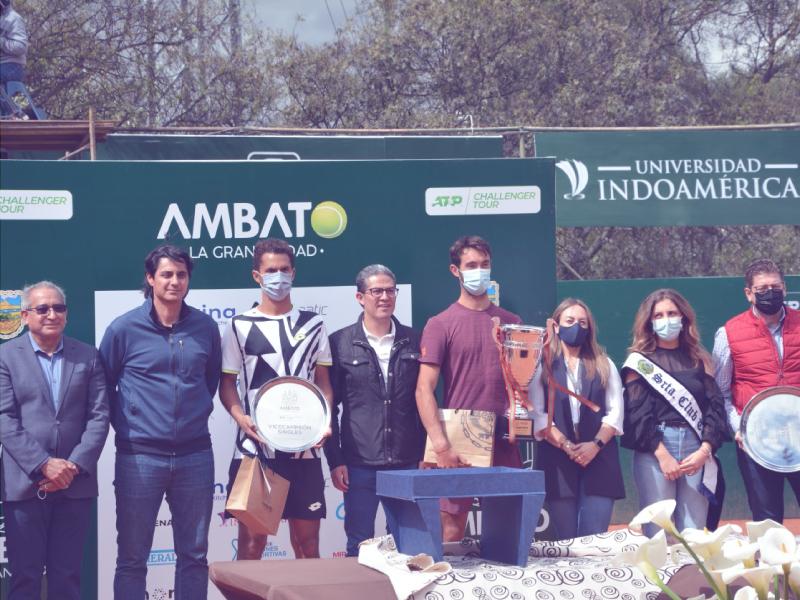 Indoamérica impulsa el deporte en el ATP Challenger en Ambato