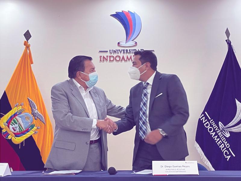 Indoamérica firma convenio marco con el Colegio de Mediadores de Ecuador